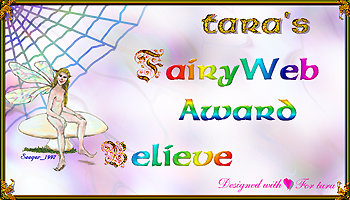 Tara's Fairy Web Award